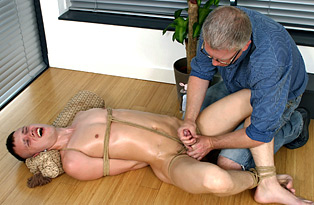 Marco Tied Down And Wanked