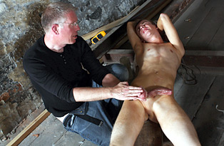 Wanked to a cum load by the master