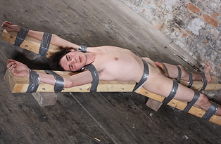 Blindfolded and Taped Down