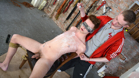Blindfolded Boy Butt Fucked!