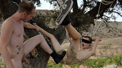 Blindfolded Twink Boy Takes A Big Dick!