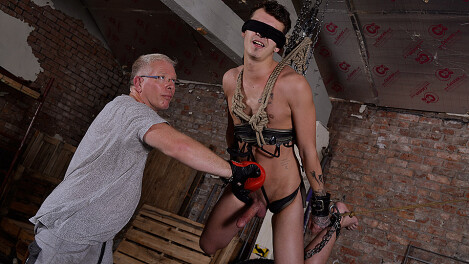 Hung Boy Takes A Beating