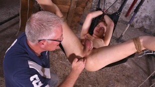 Stretching His Twink Hole