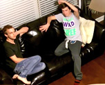 Couch Fucking With Erik & Chad 1